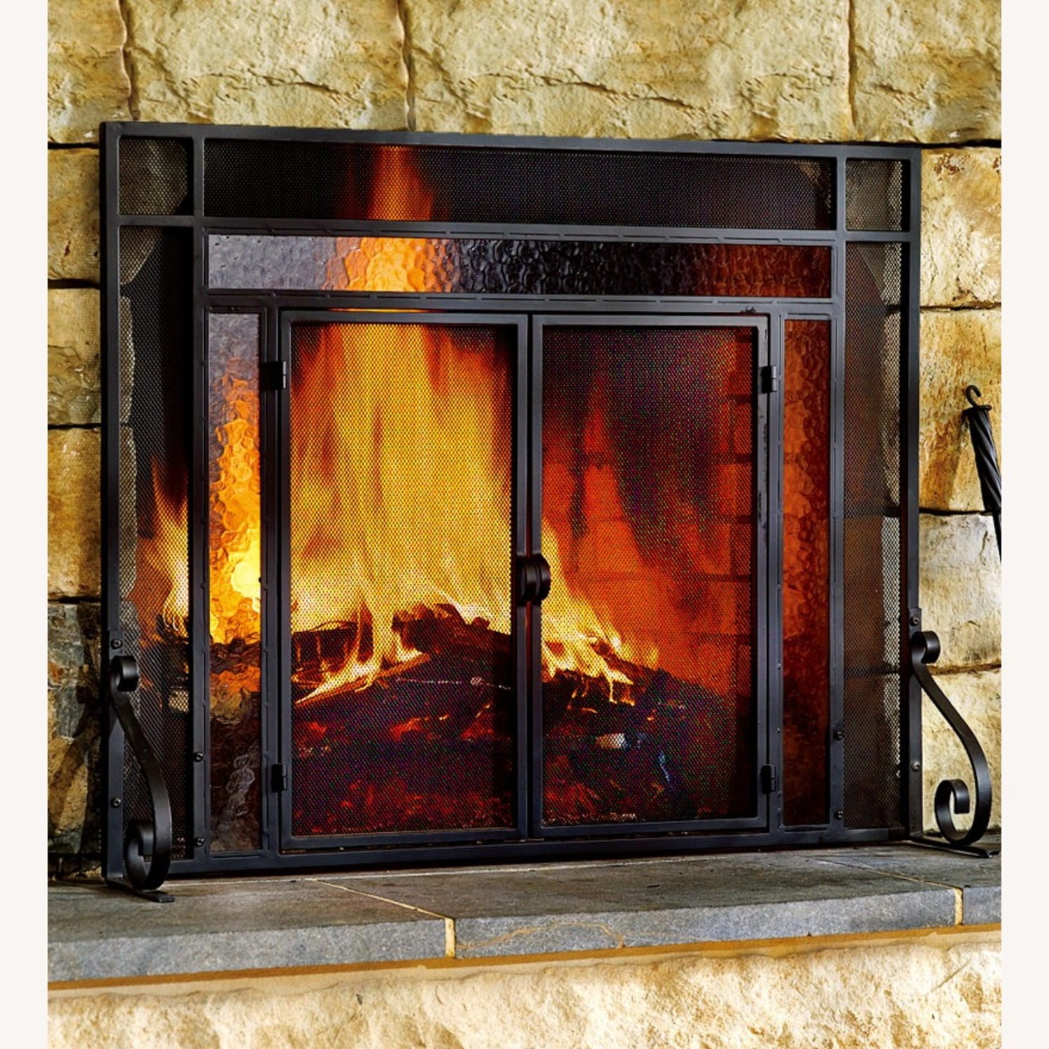 Plow & Hearth Fireplace Screen - image-1