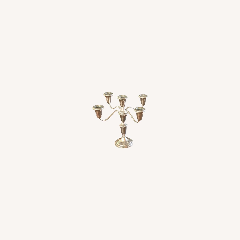 Vintage Sterling Silver Candelabras - image-0