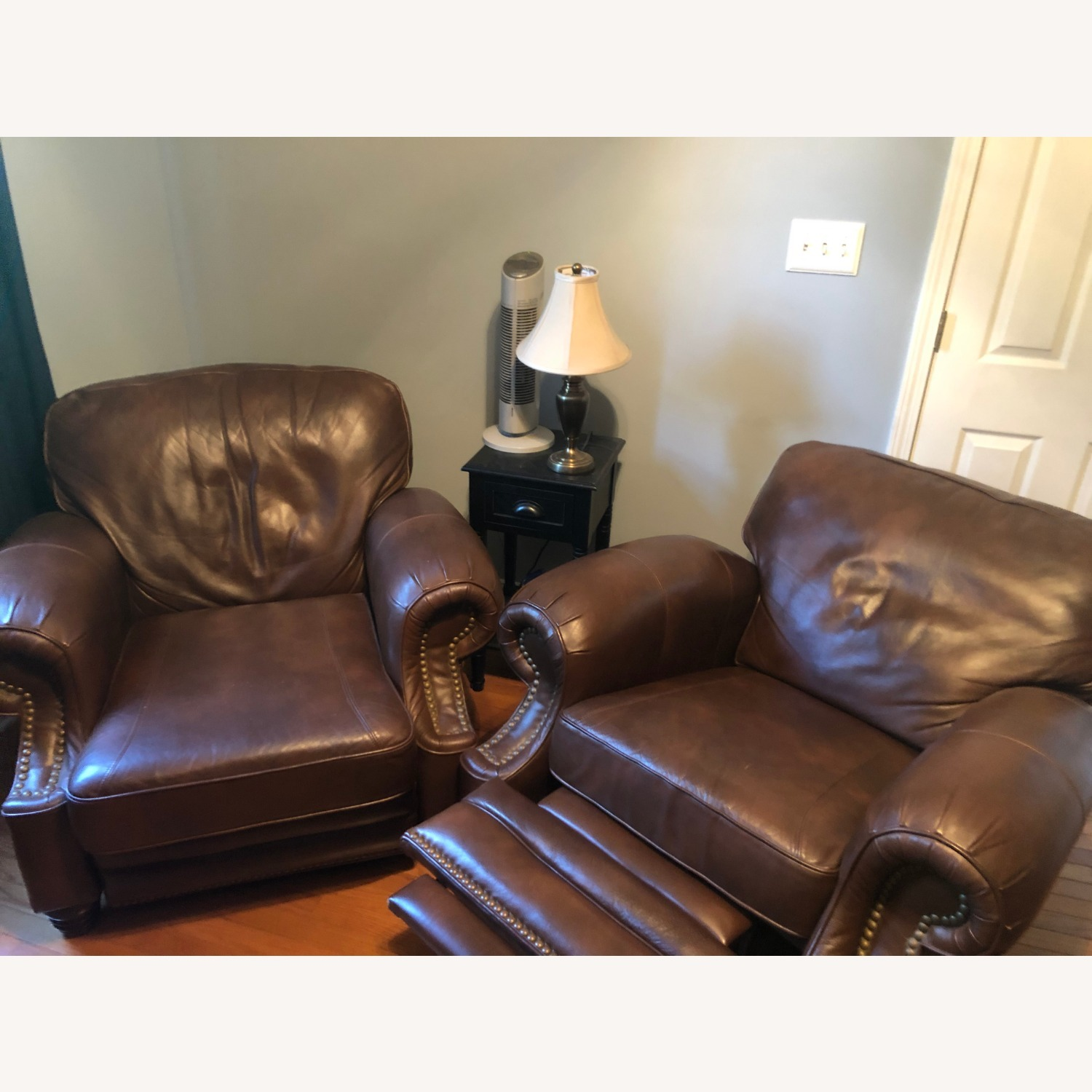 Brown Leather Barcalounger - image-6