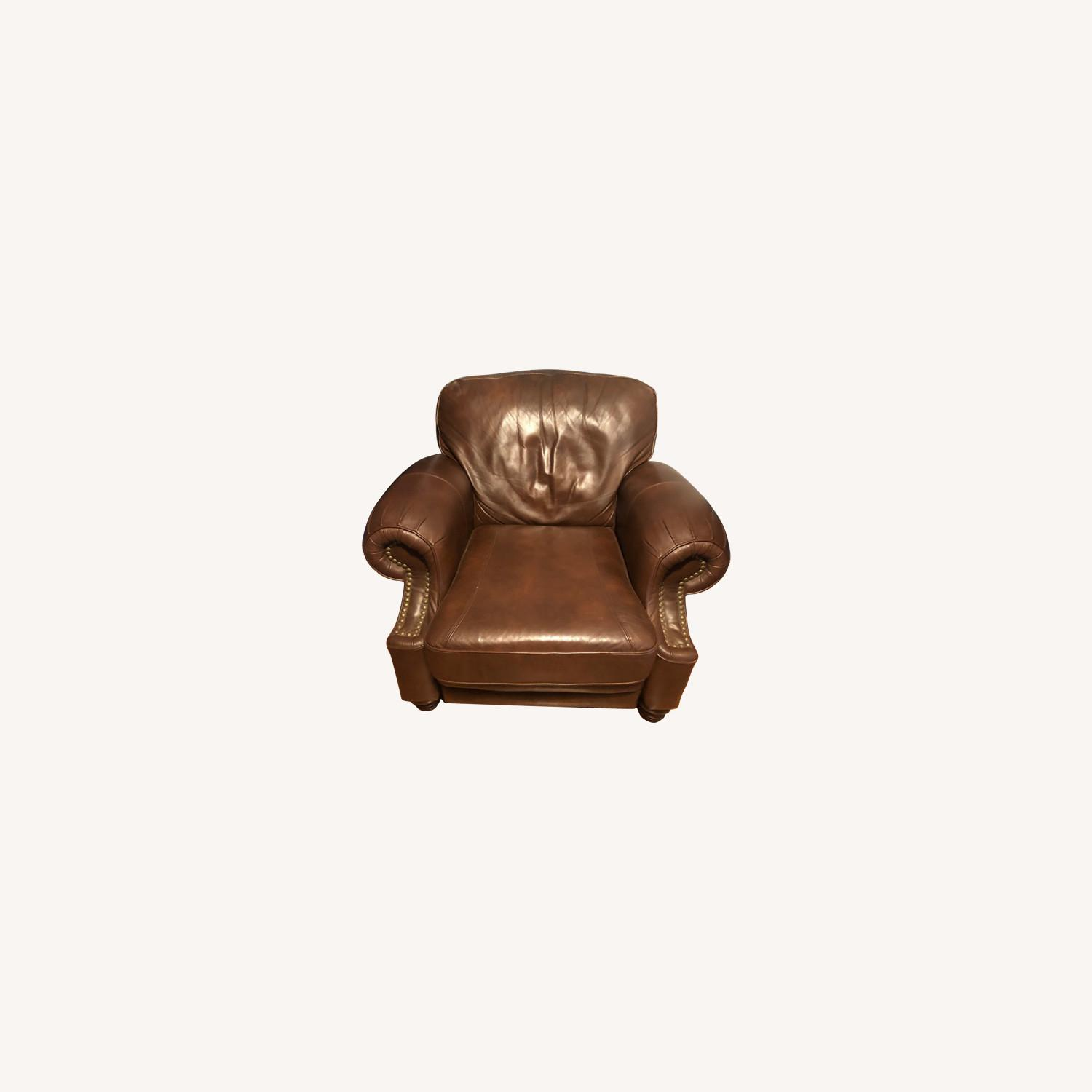 Brown Leather Barcalounger - image-0