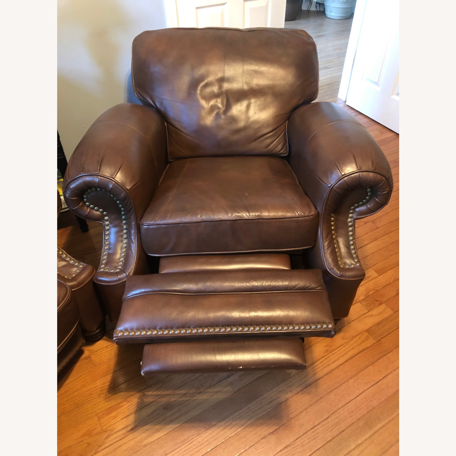 Brown Leather Barcalounger - image-5