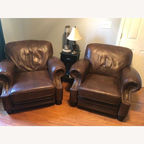 Used Brown Leather Barcalounger for sale on AptDeco