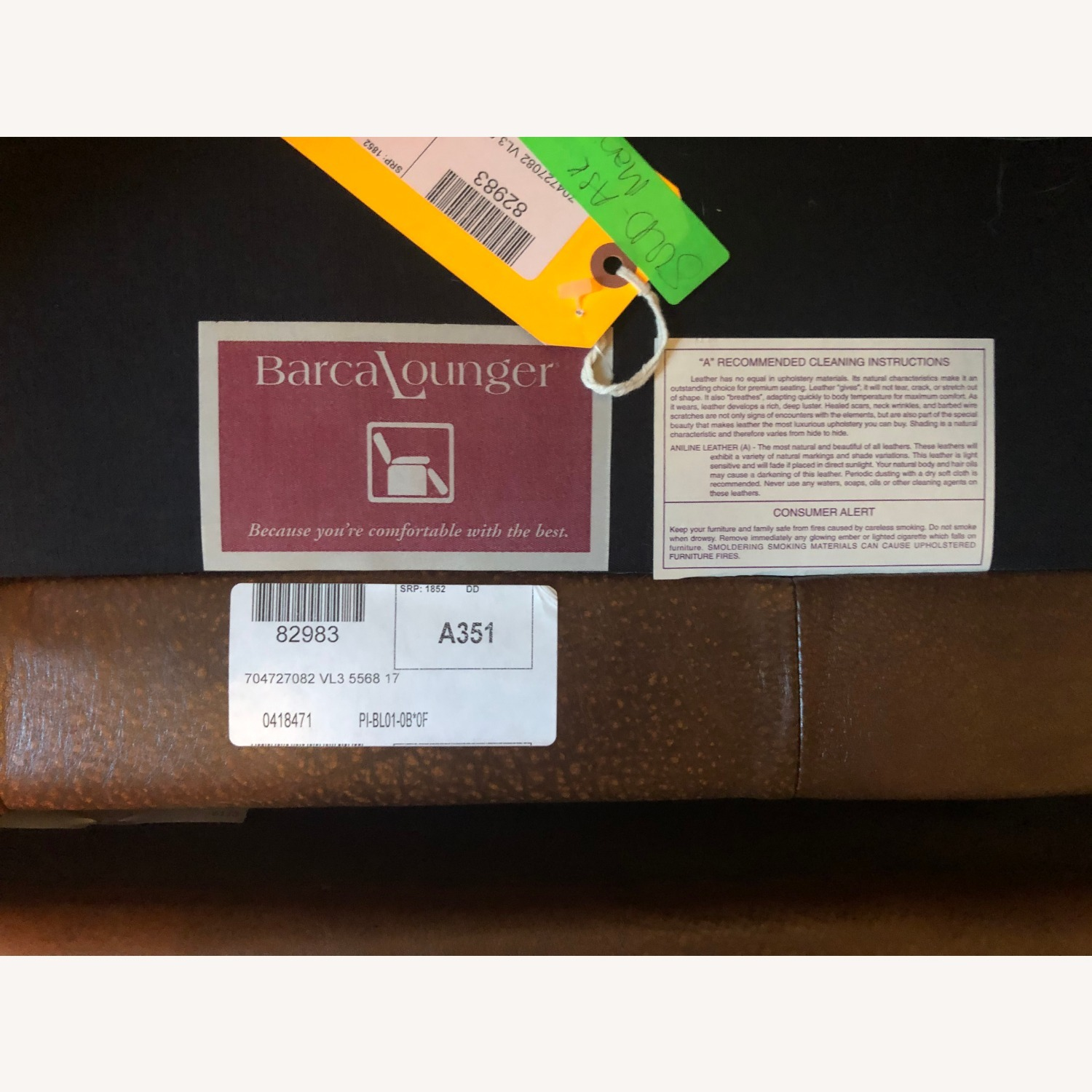 Brown Leather Barcalounger - image-7