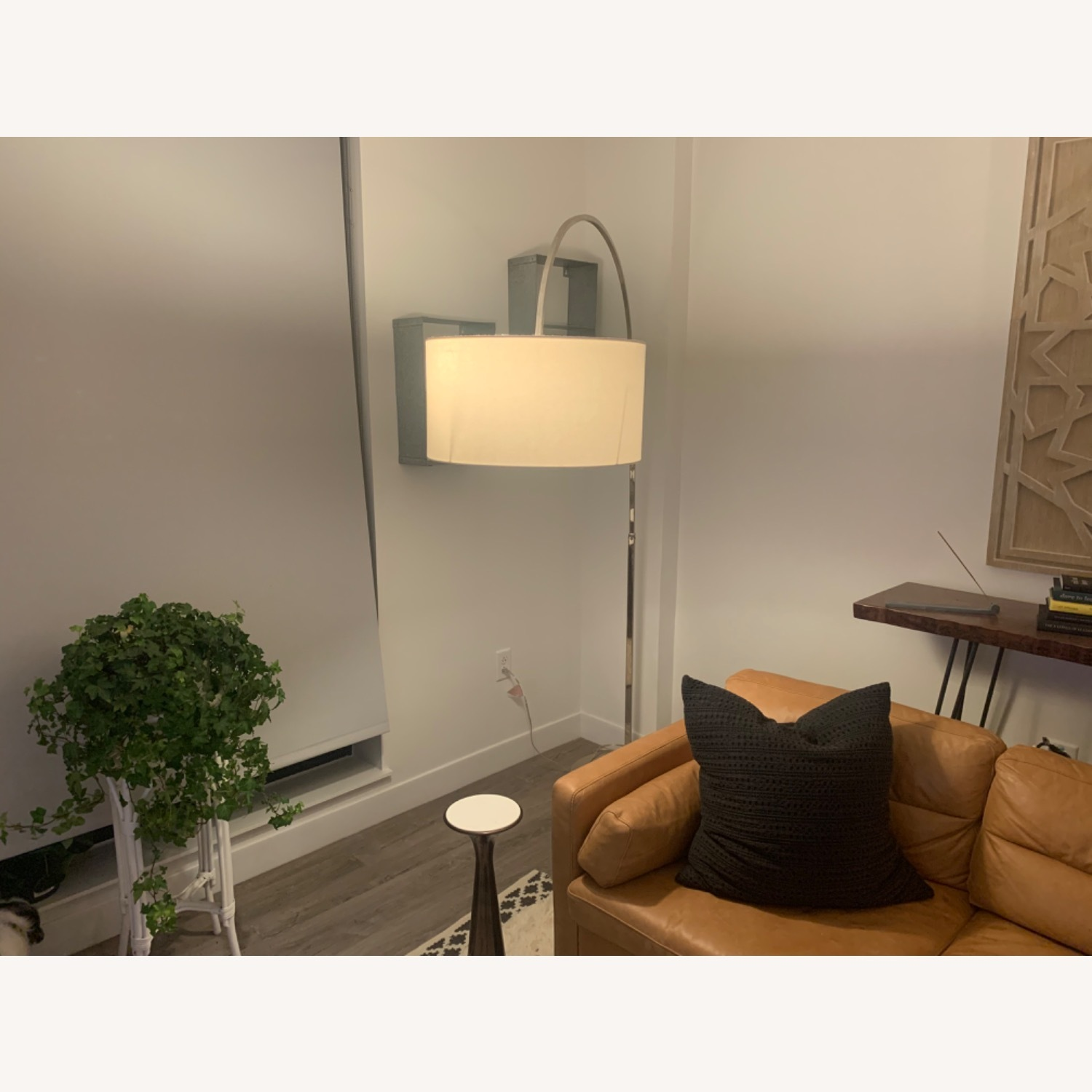 West Elm Silver Overarching Lamp - image-2