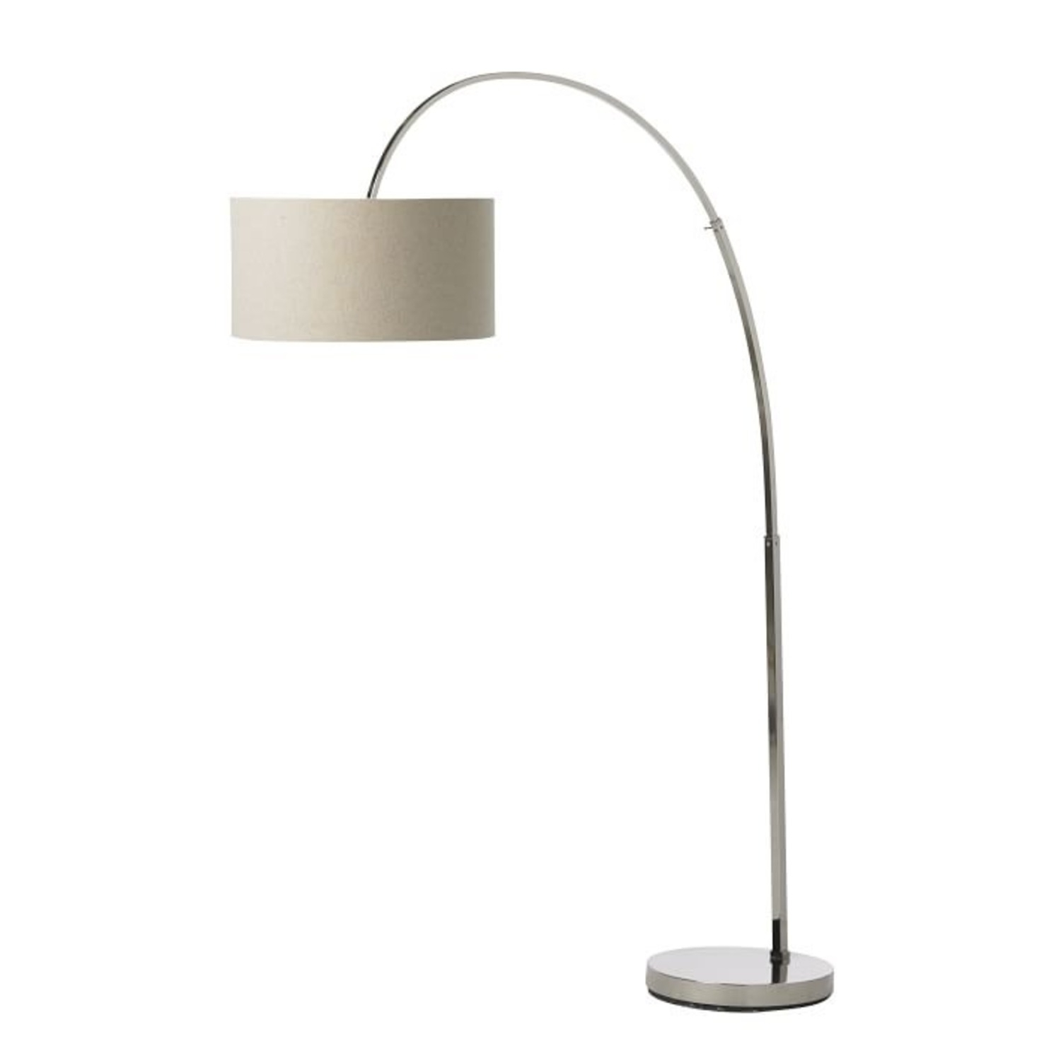 West Elm Silver Overarching Lamp - image-0