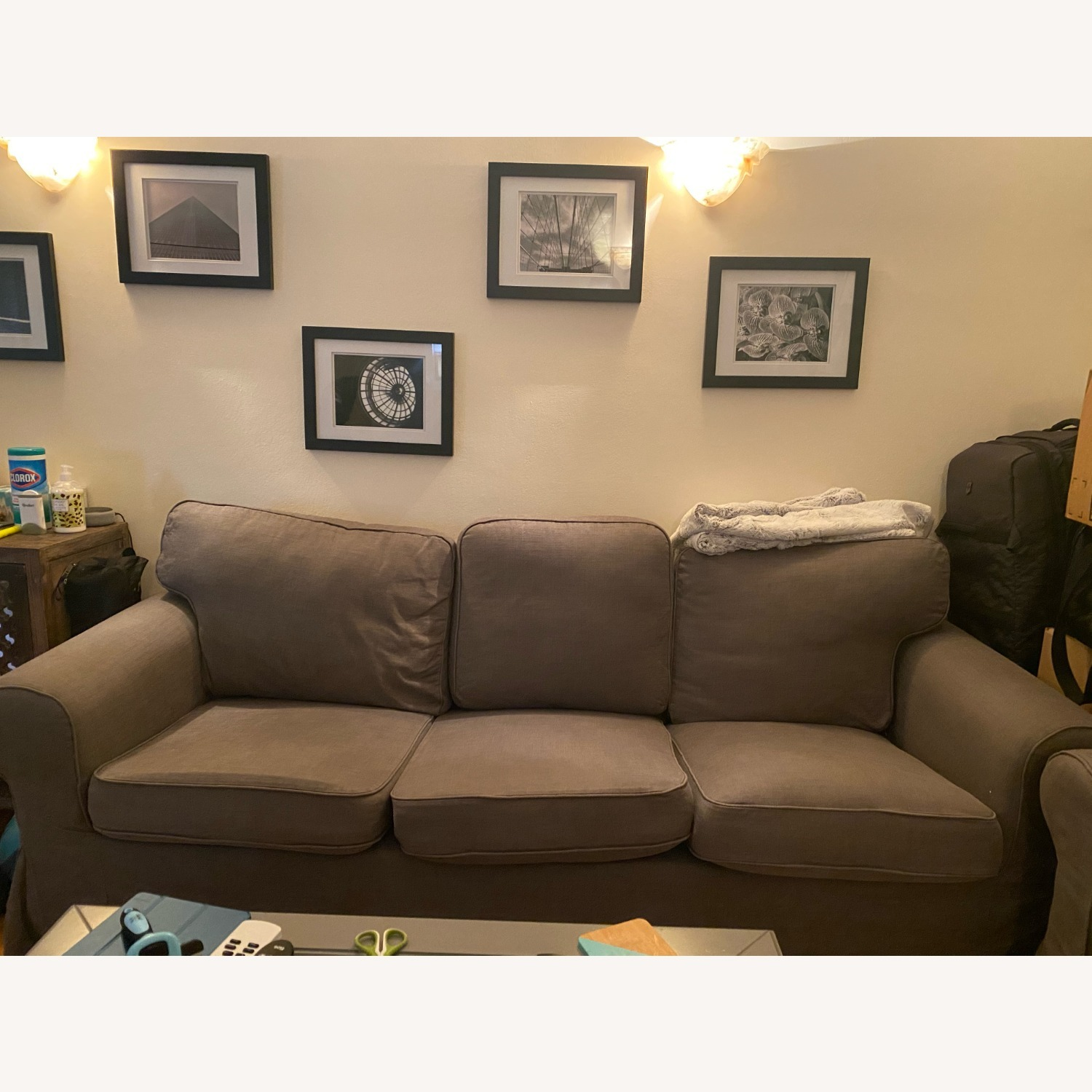 IKEA Grey Couch - image-1