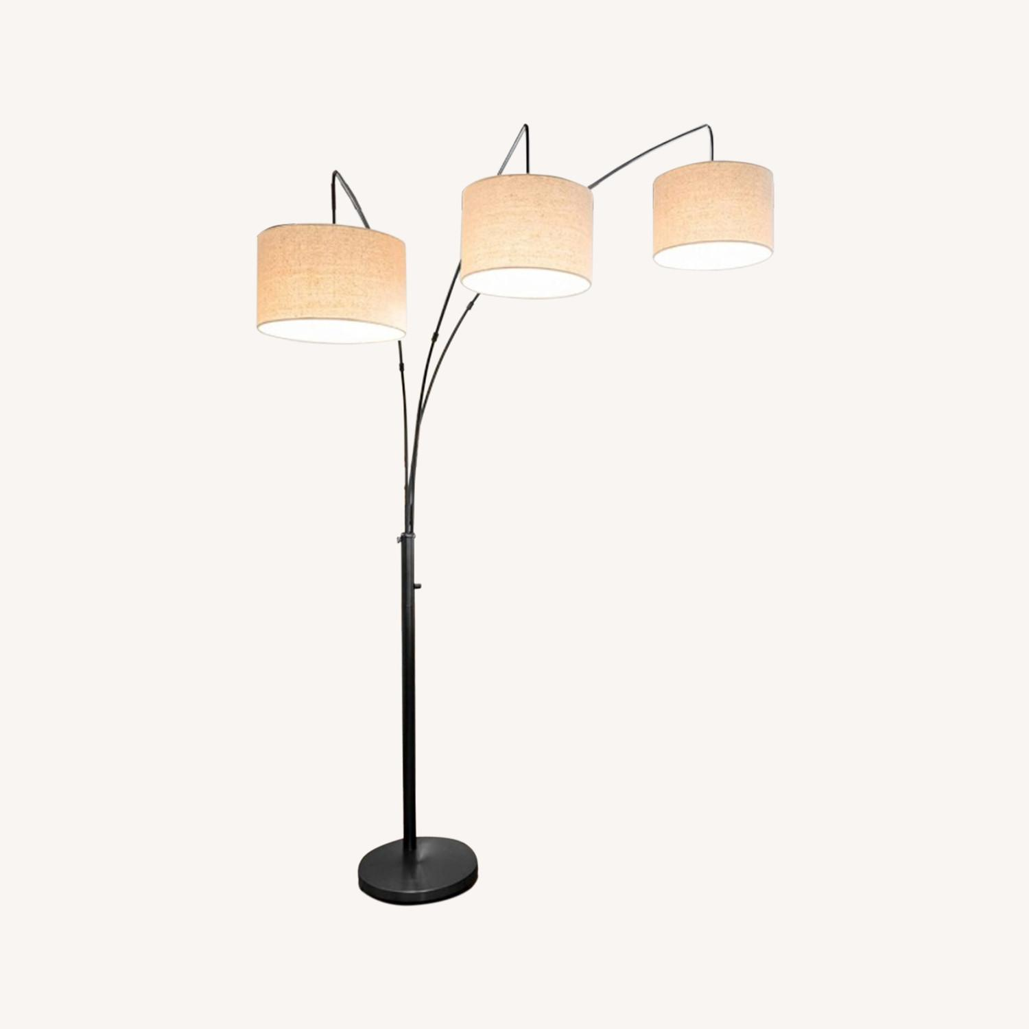 Brightech Trilage Arc Floor Lamp w/Marble Base - image-0