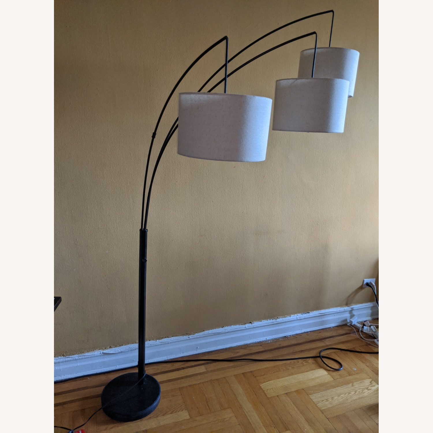 Brightech Trilage Arc Floor Lamp w/Marble Base - image-7
