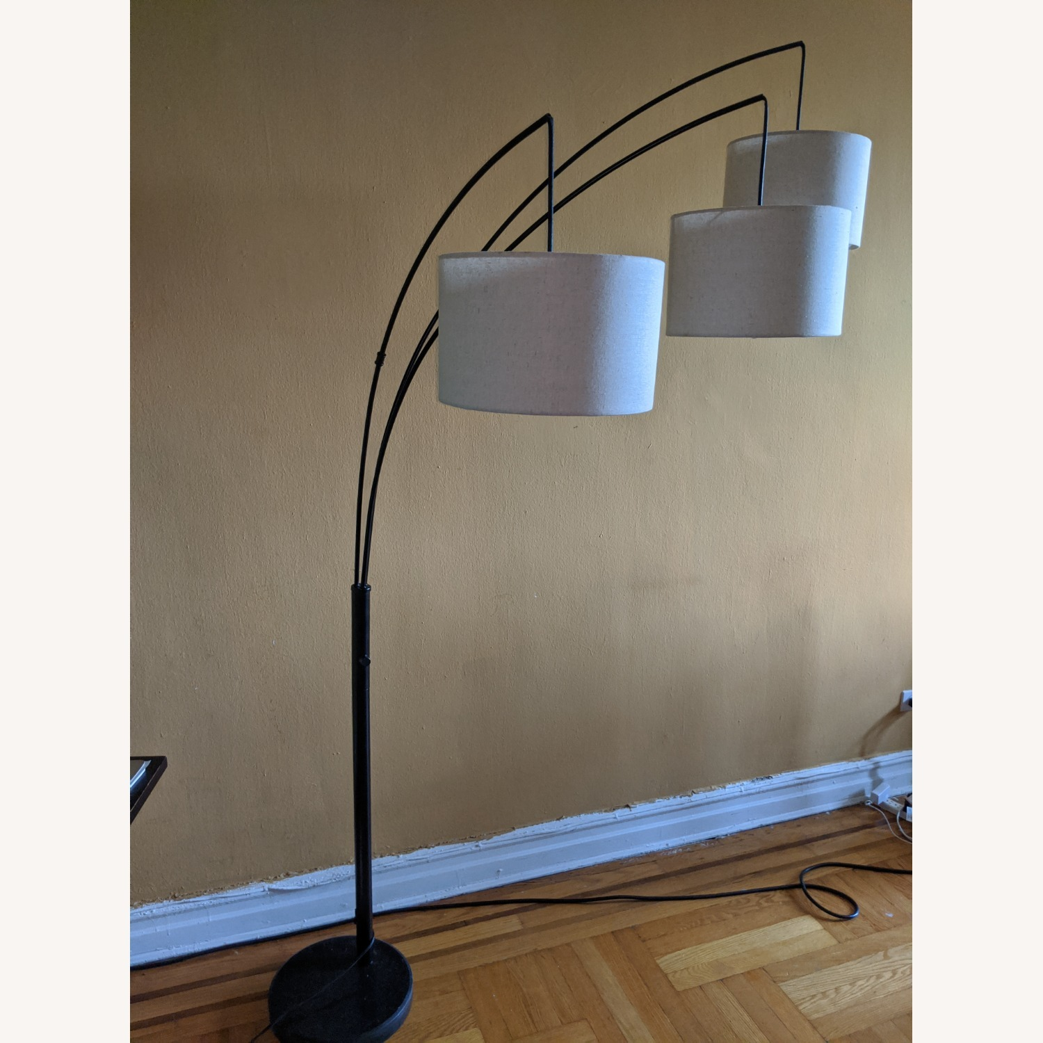 Brightech Trilage Arc Floor Lamp w/Marble Base - image-8