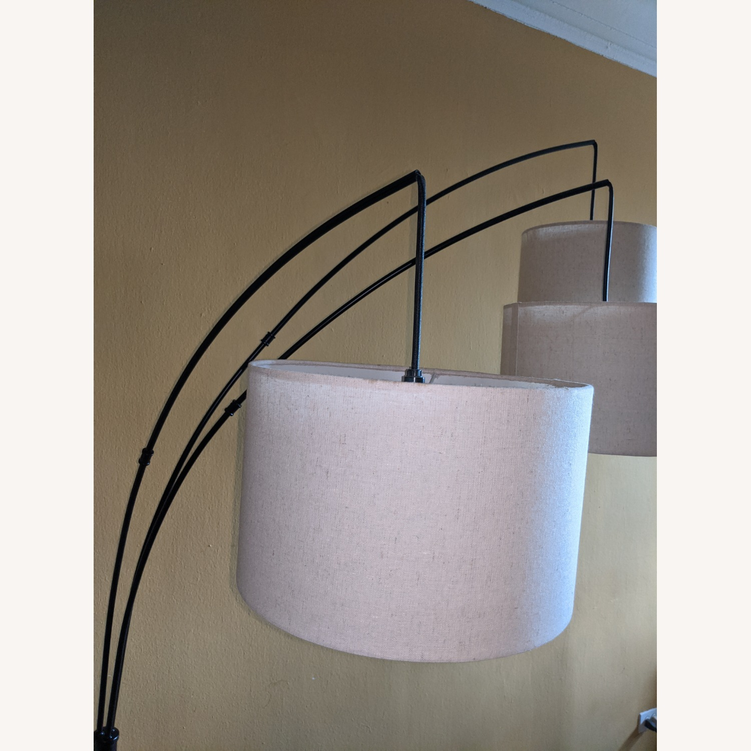 Brightech Trilage Arc Floor Lamp w/Marble Base - image-6