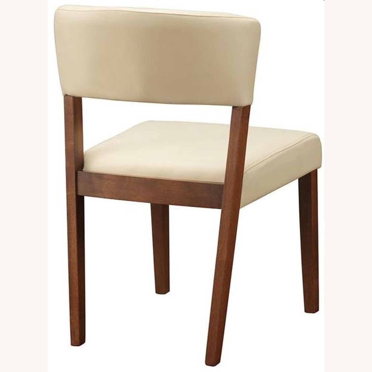 Retro Side Chair In Nutmeg & Cream Leatherette - image-2