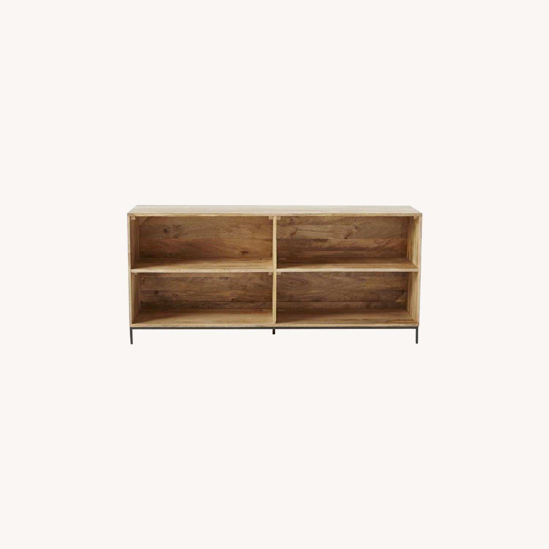 West Elm Industrial Storage Bookcase, Mango - image-0