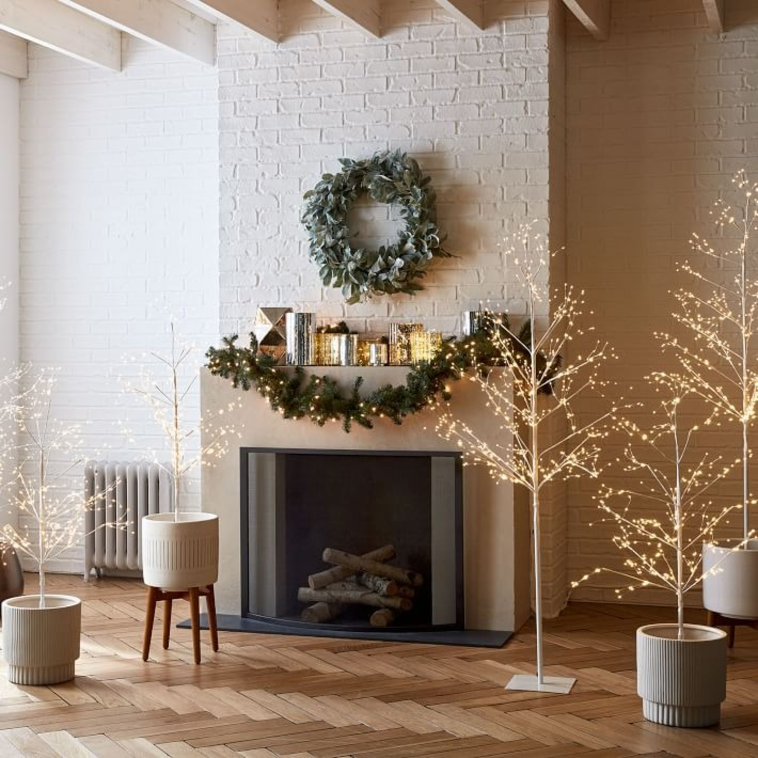 West Elm LED White Tree - image-2