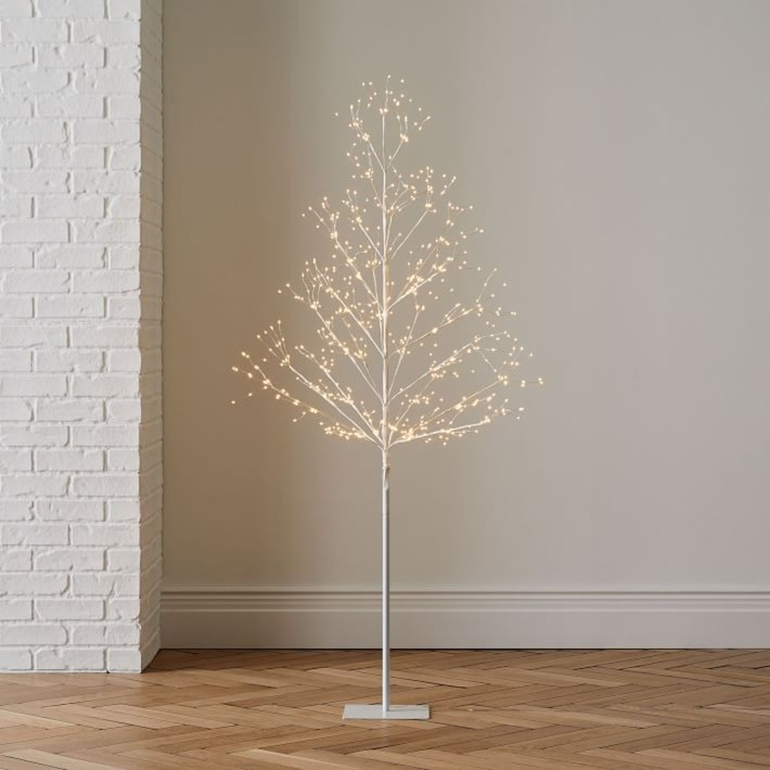 West Elm LED White Tree - image-1
