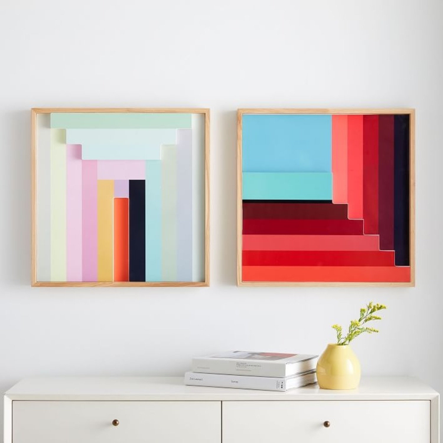 West Elm Margo Selby Colorblock Lacquer Wall Art - image-3