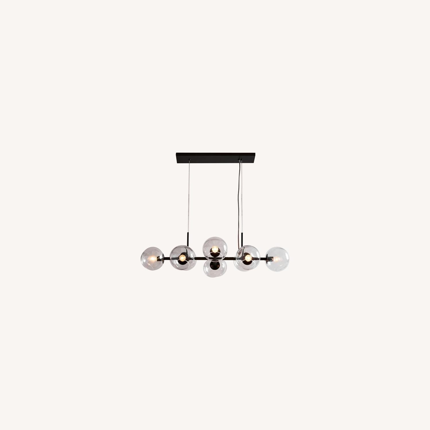 West Elm Staggered Glass 8-Light Chandelier - image-0