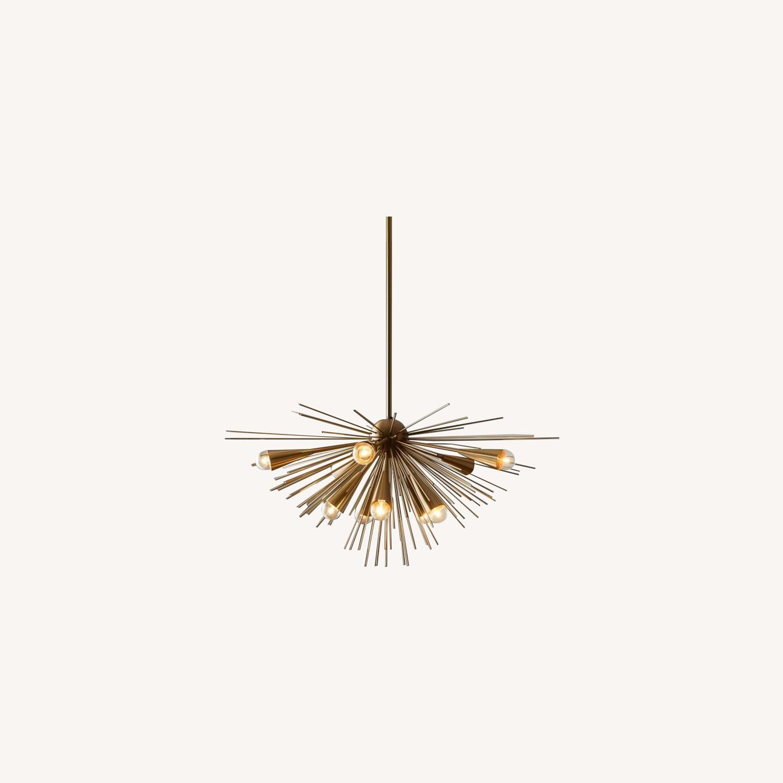 West Elm Sputnik Chandelier, Bronze/Brass - image-0