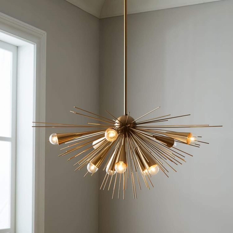 West Elm Sputnik Chandelier, Bronze/Brass - image-1