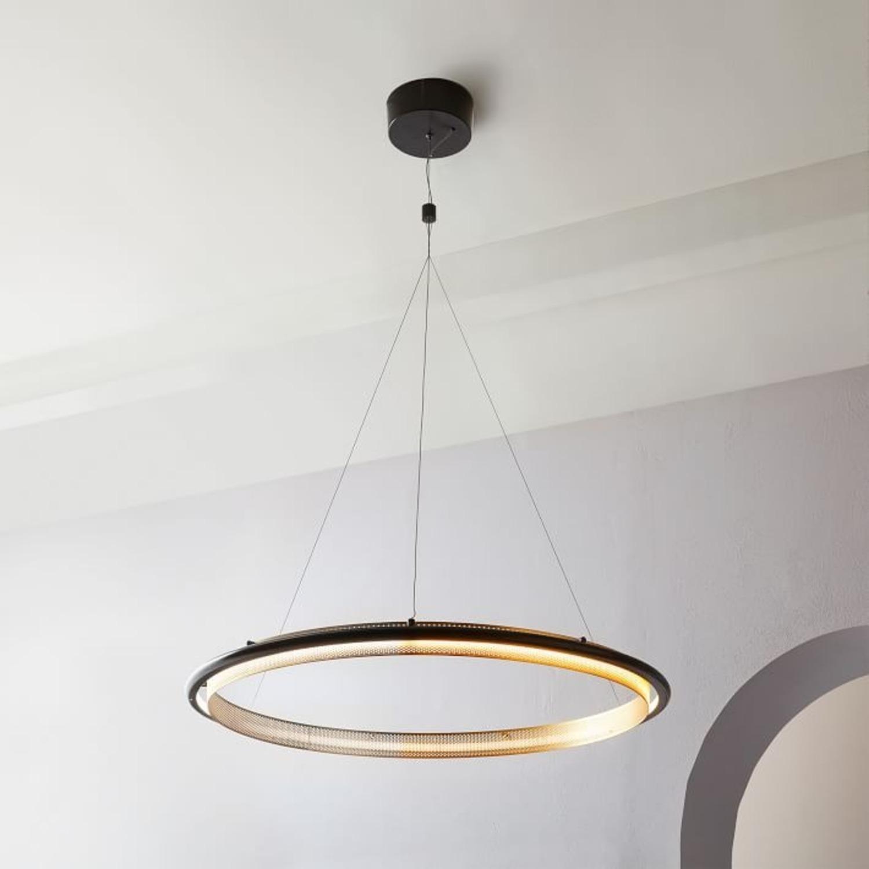 West Elm LED Hoop Chandelier - image-1