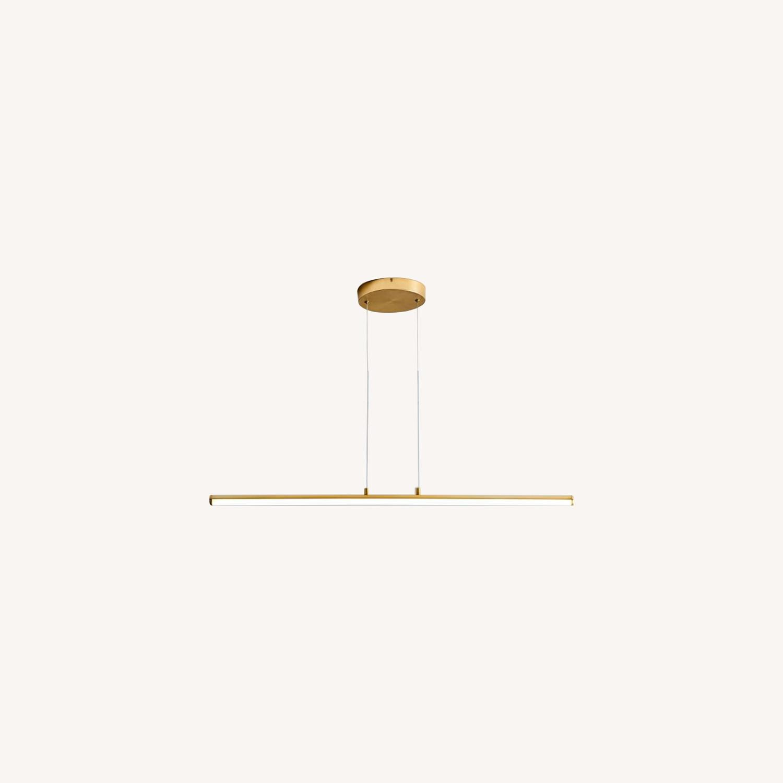 West Elm Light Rods LED Pendant, Antique Brass - image-0