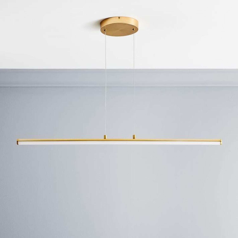 West Elm Light Rods LED Pendant, Antique Brass - image-2