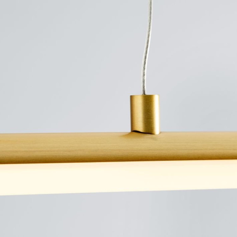 West Elm Light Rods LED Pendant, Antique Brass - image-3