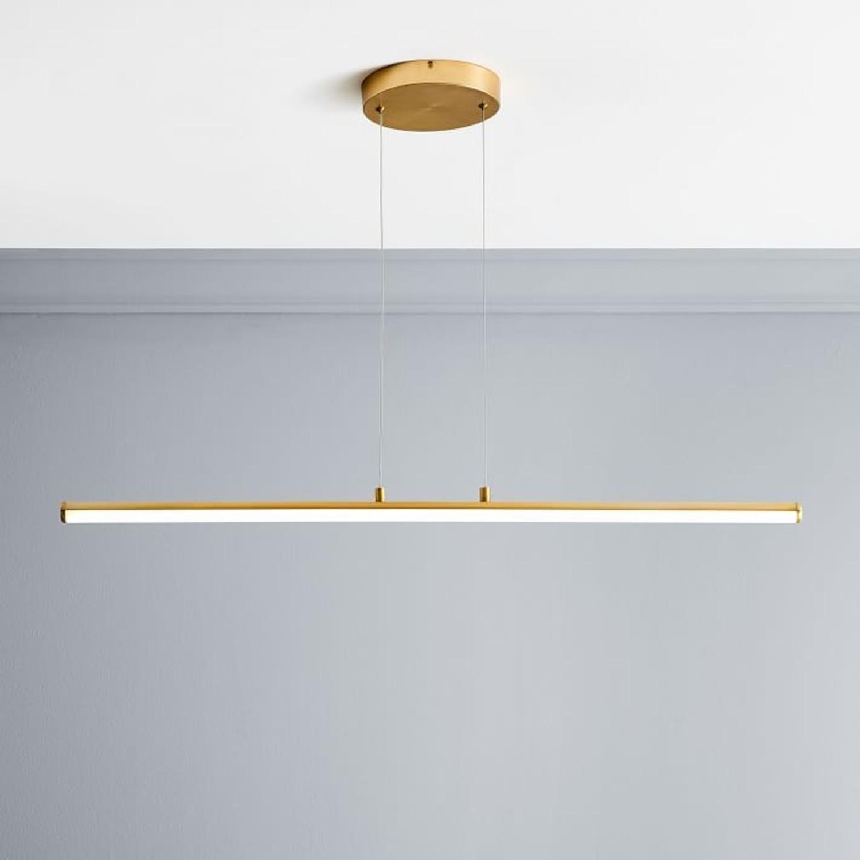 West Elm Light Rods LED Pendant, Antique Brass - image-1