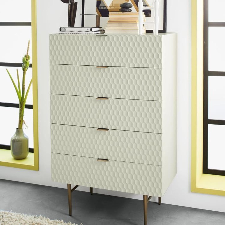 West Elm Audrey 5-Drawer Dresser, Parchment - image-1