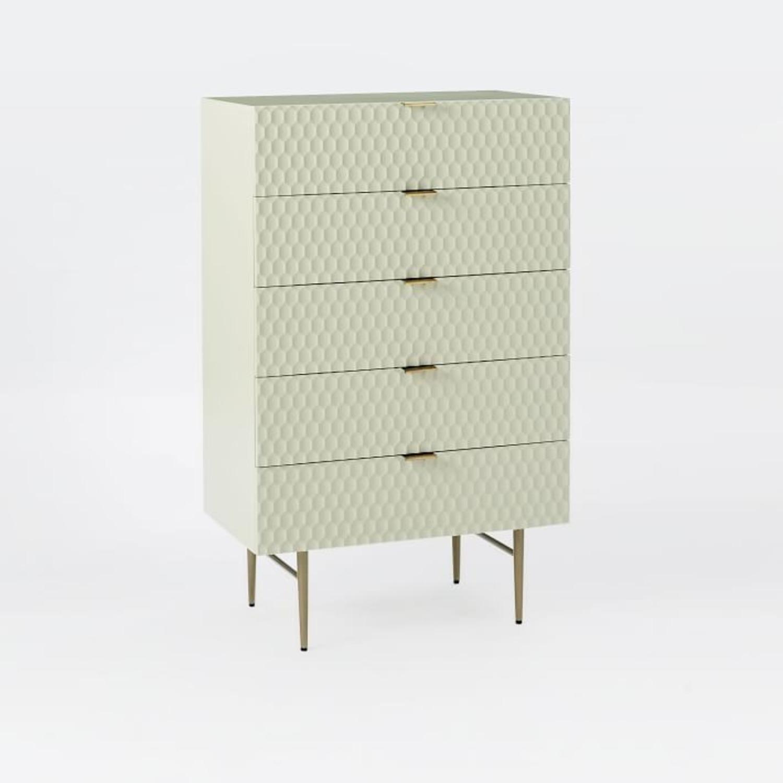West Elm Audrey 5-Drawer Dresser, Parchment - image-3