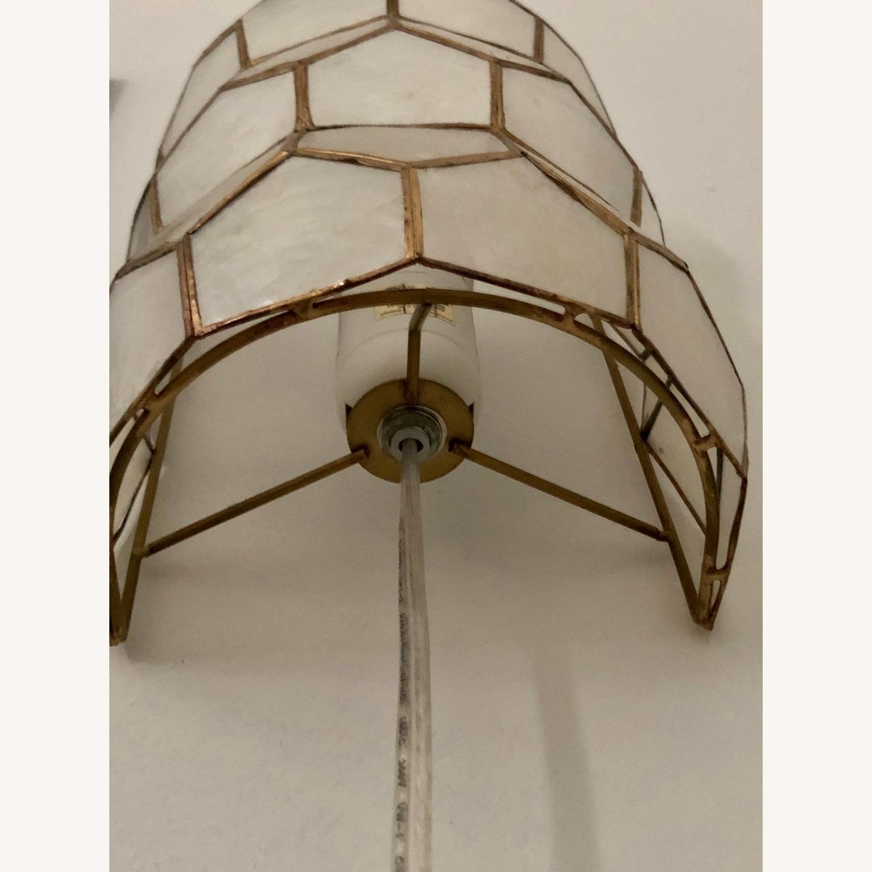 Bronze and White Geometric Sconces - image-4