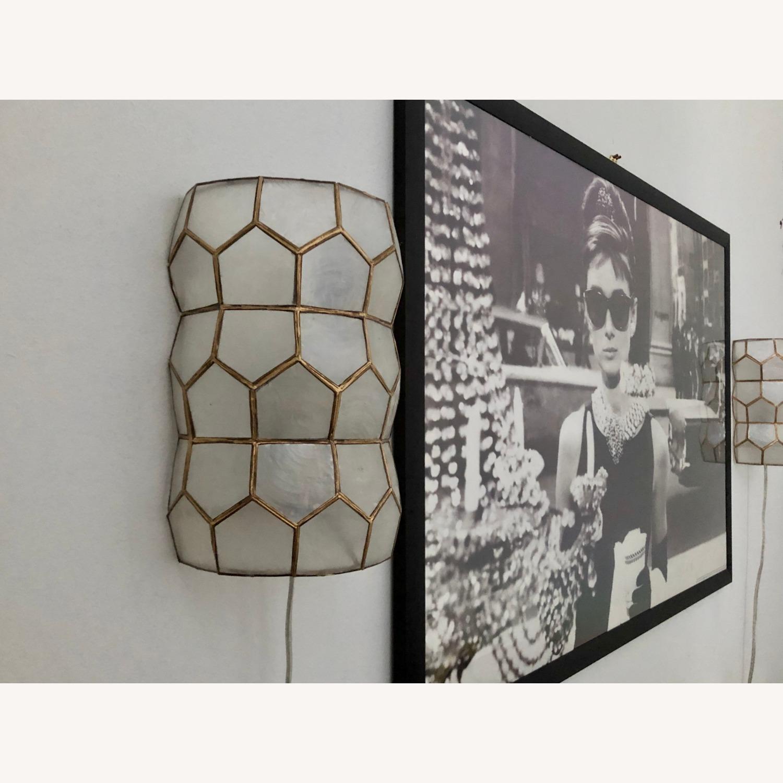 Bronze and White Geometric Sconces - image-6