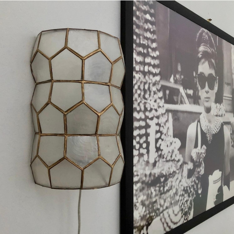 Bronze and White Geometric Sconces - image-7