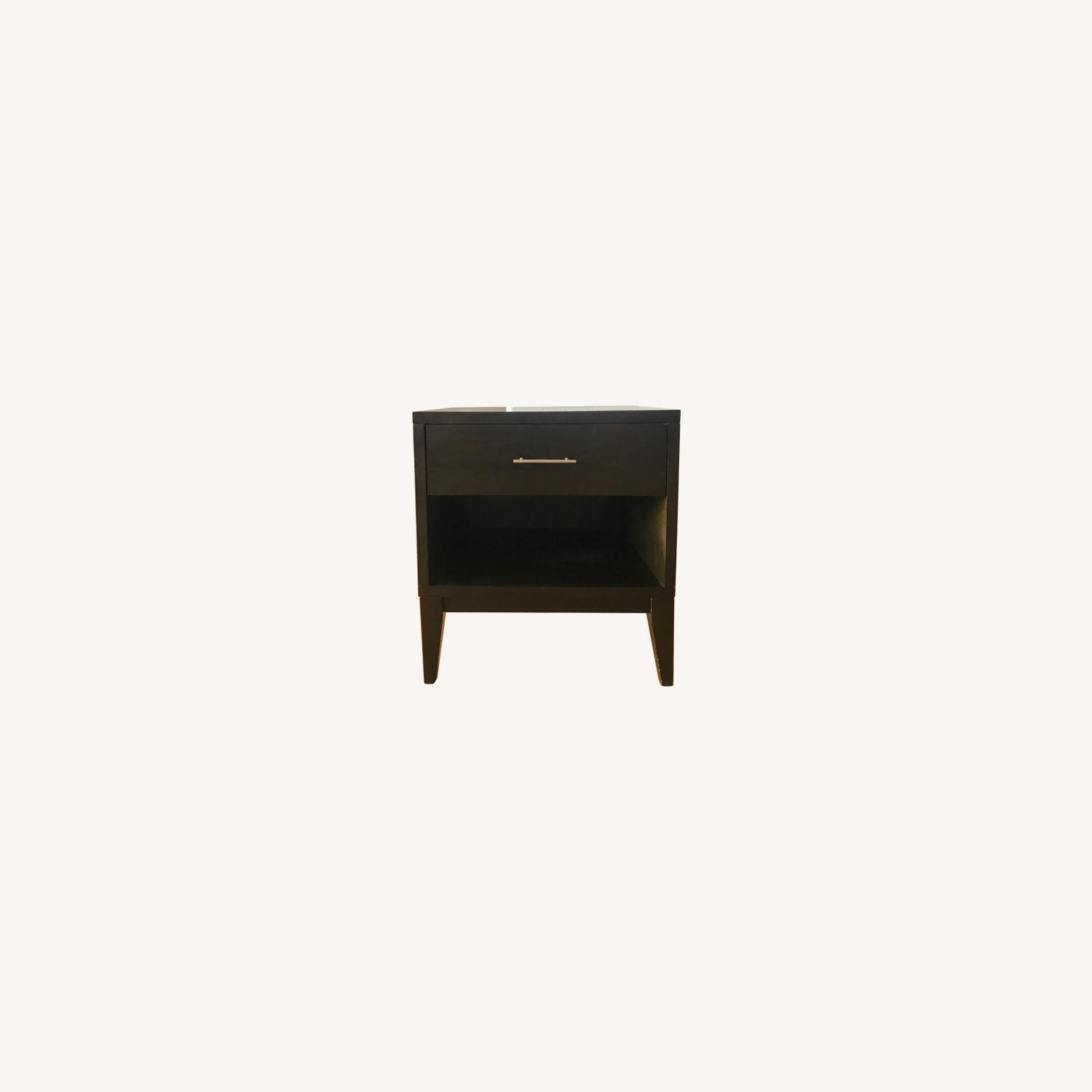 West Elm Chocolate Colored Side Table - image-0