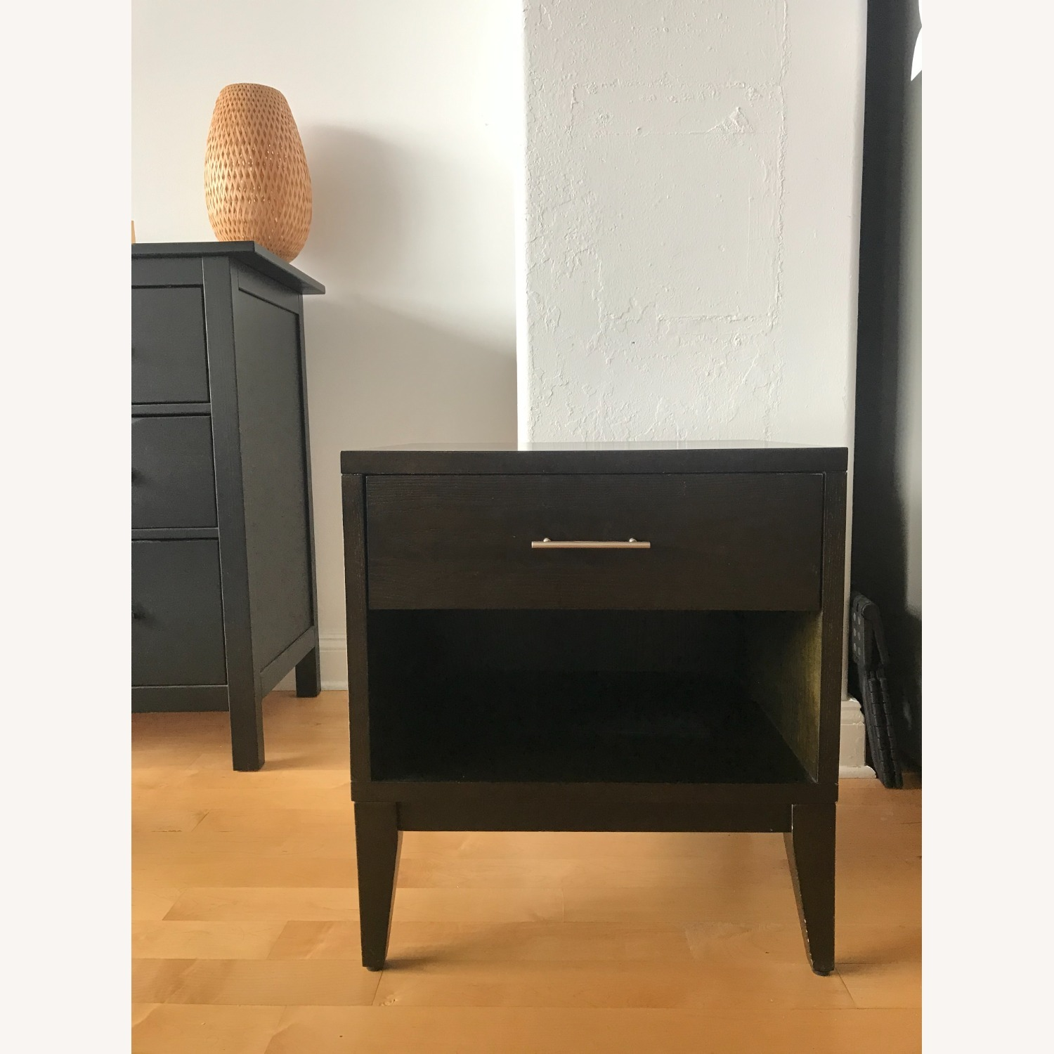 West Elm Chocolate Colored Side Table - image-1