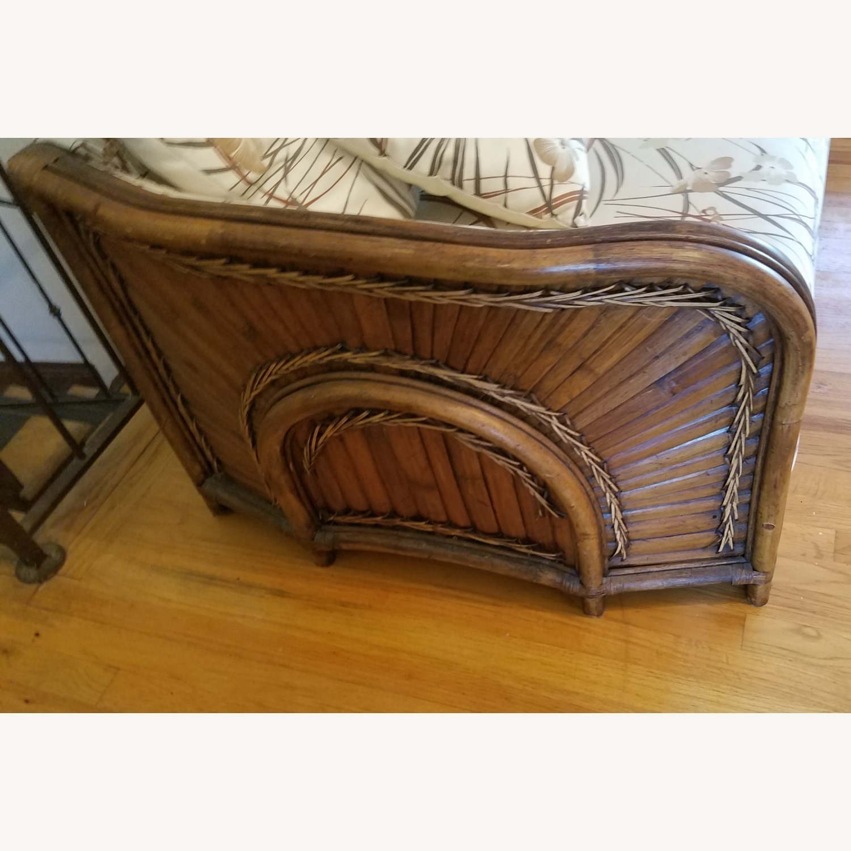 Vintage Boho Rattan Loveseat Settee Sofa - image-3