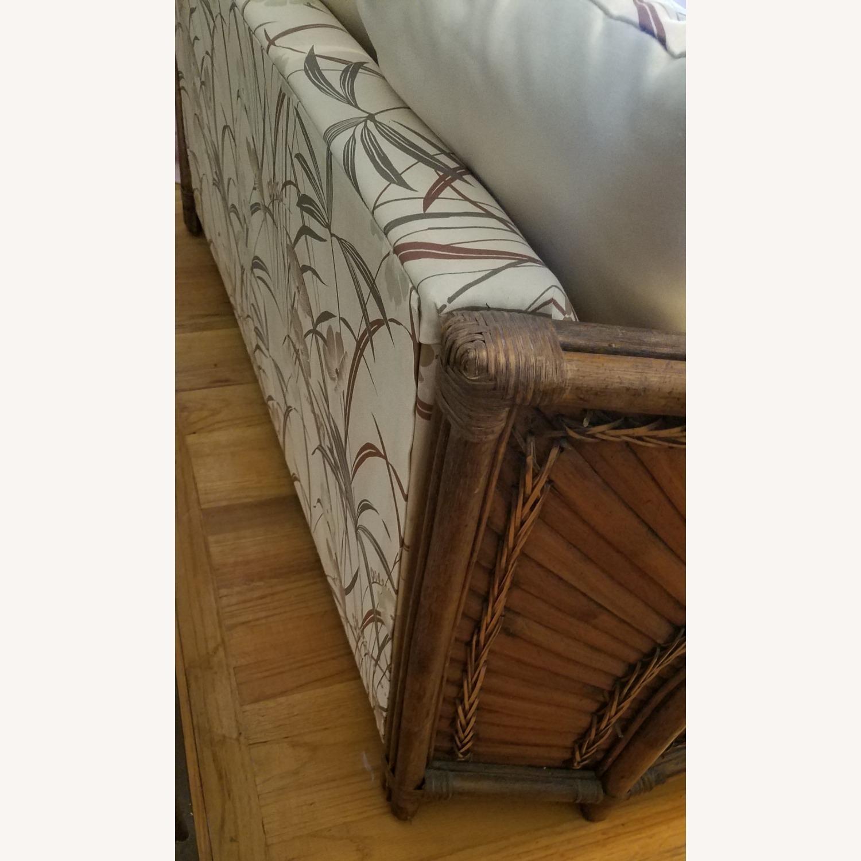 Vintage Boho Rattan Loveseat Settee Sofa - image-4