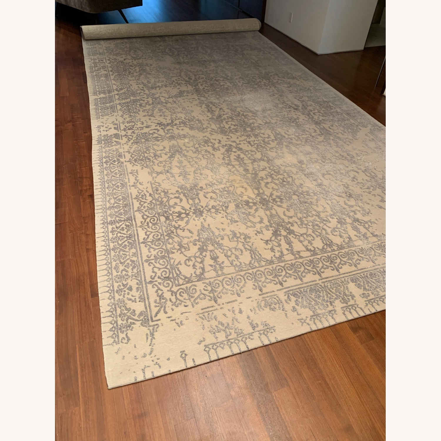 Custom Antique Style Distressed Rug - image-1