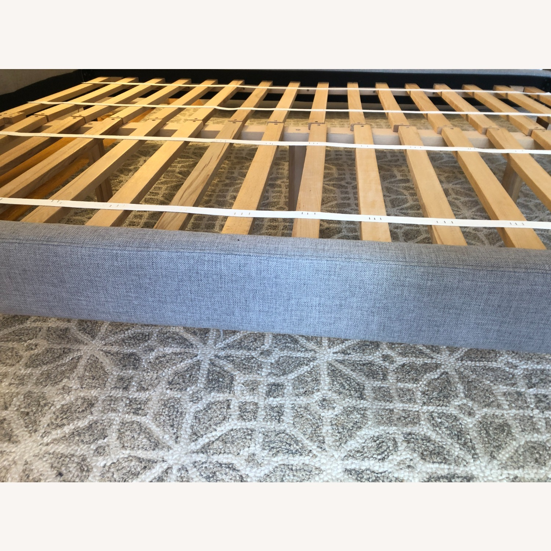 West Elm Gray Upholstered Queen Bed - image-19