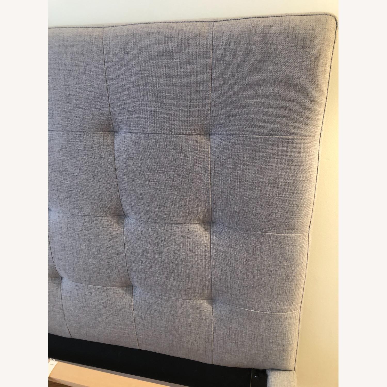 West Elm Gray Upholstered Queen Bed - image-7