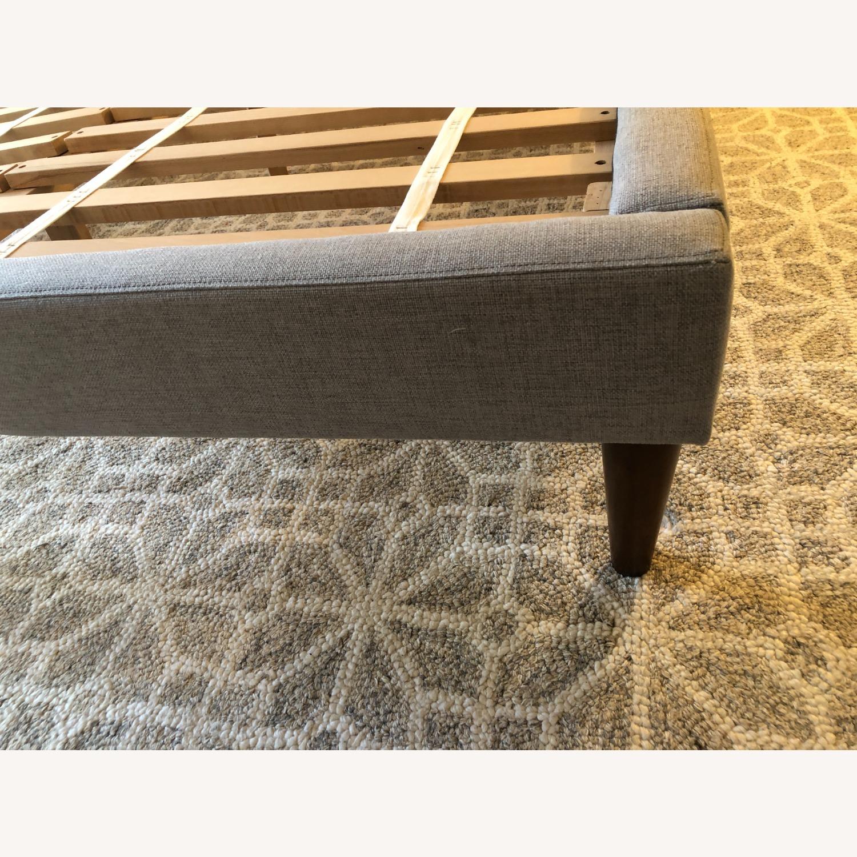 West Elm Gray Upholstered Queen Bed - image-23