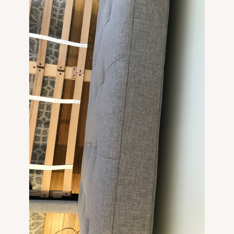 West Elm Gray Upholstered Queen Bed - image-14
