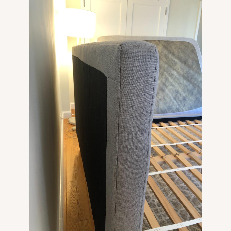 West Elm Gray Upholstered Queen Bed - image-17