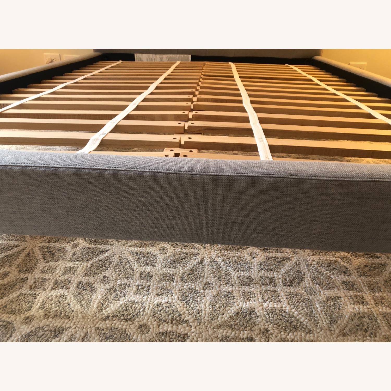 West Elm Gray Upholstered Queen Bed - image-22