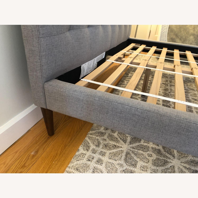 West Elm Gray Upholstered Queen Bed - image-18
