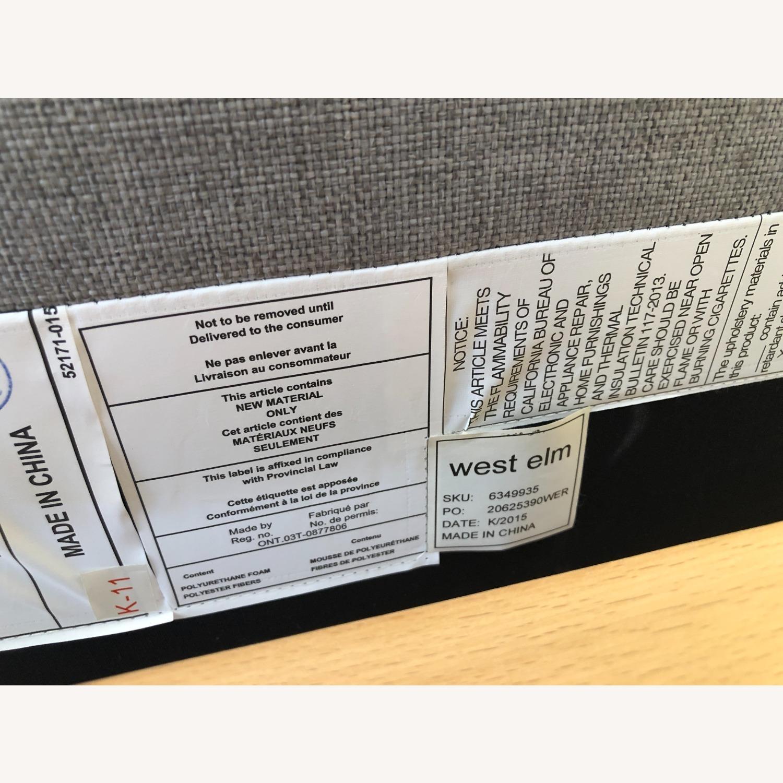 West Elm Gray Upholstered Queen Bed - image-29