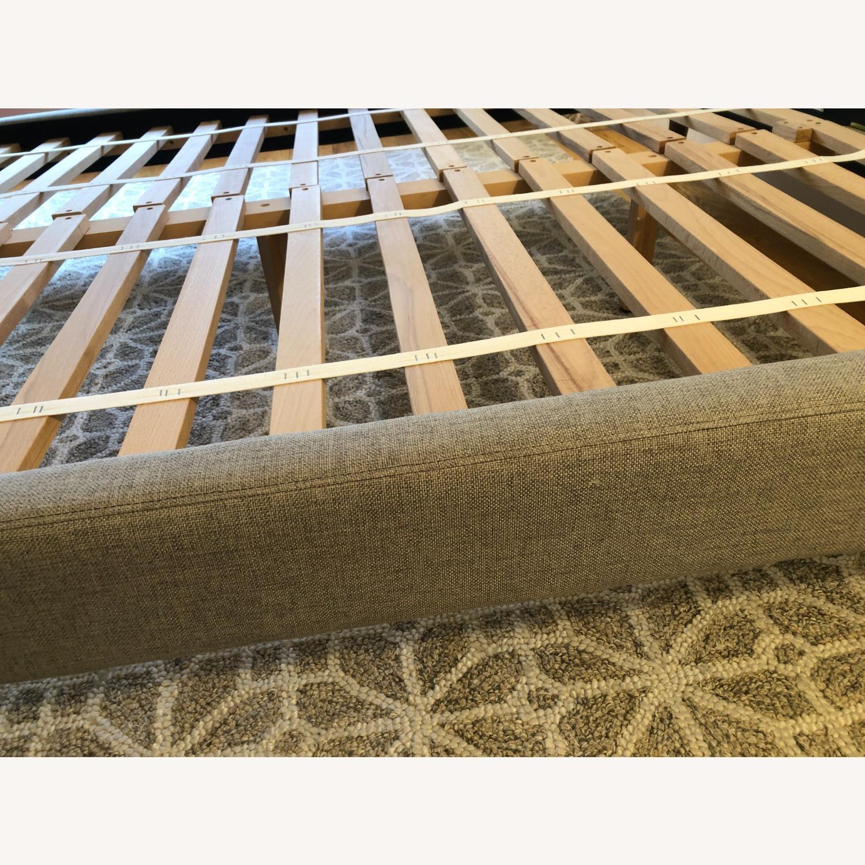 West Elm Gray Upholstered Queen Bed - image-26