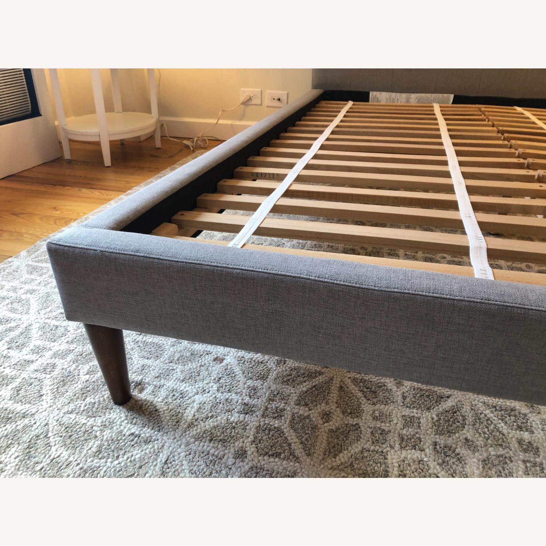 West Elm Gray Upholstered Queen Bed - image-21