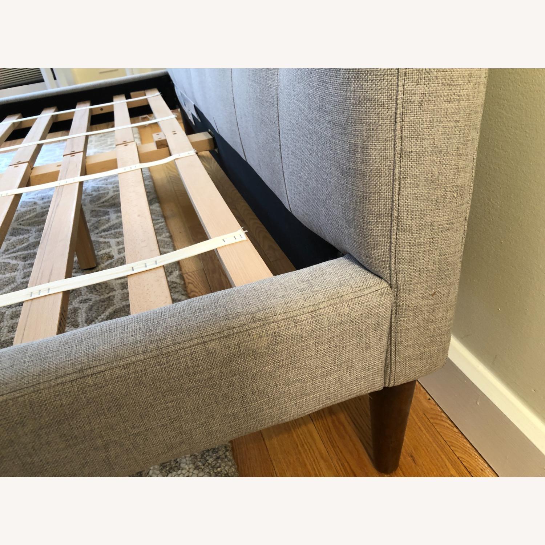 West Elm Gray Upholstered Queen Bed - image-27