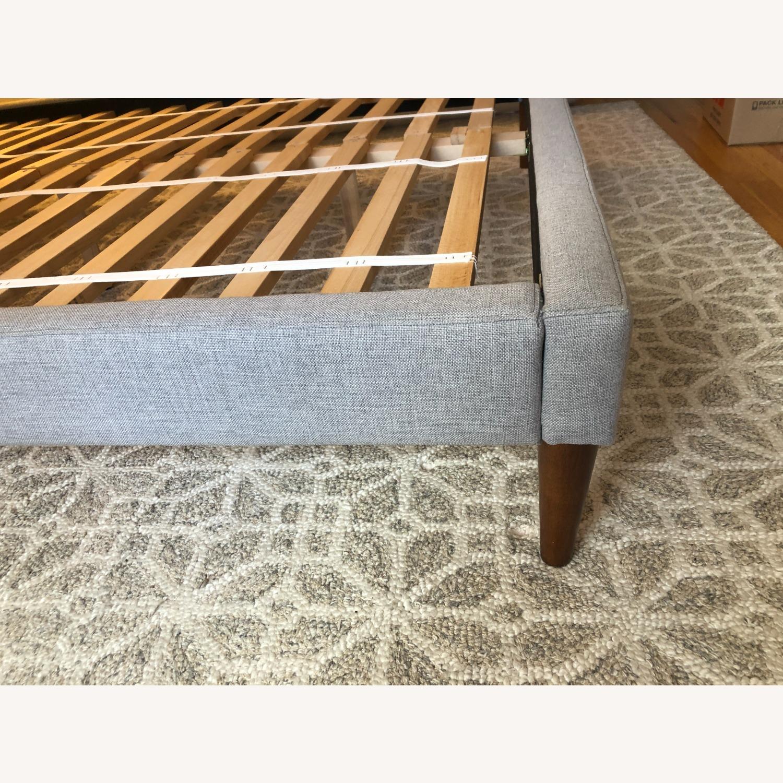 West Elm Gray Upholstered Queen Bed - image-20