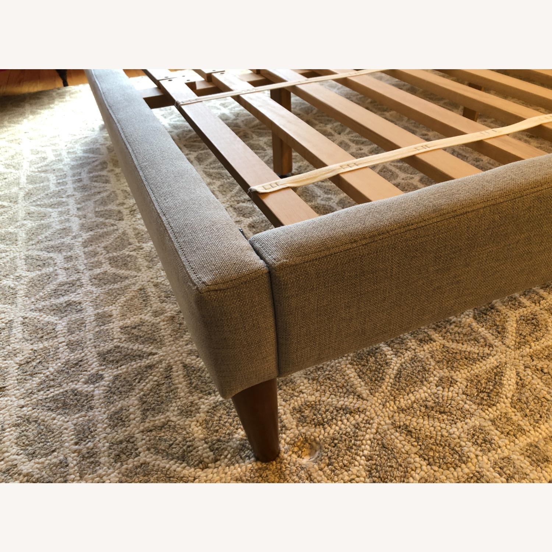 West Elm Gray Upholstered Queen Bed - image-24